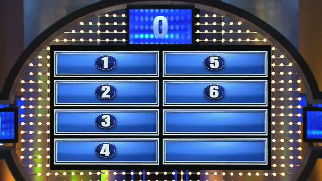 edwards garage's family feud game top six answers are on the board, Powerpoint templates