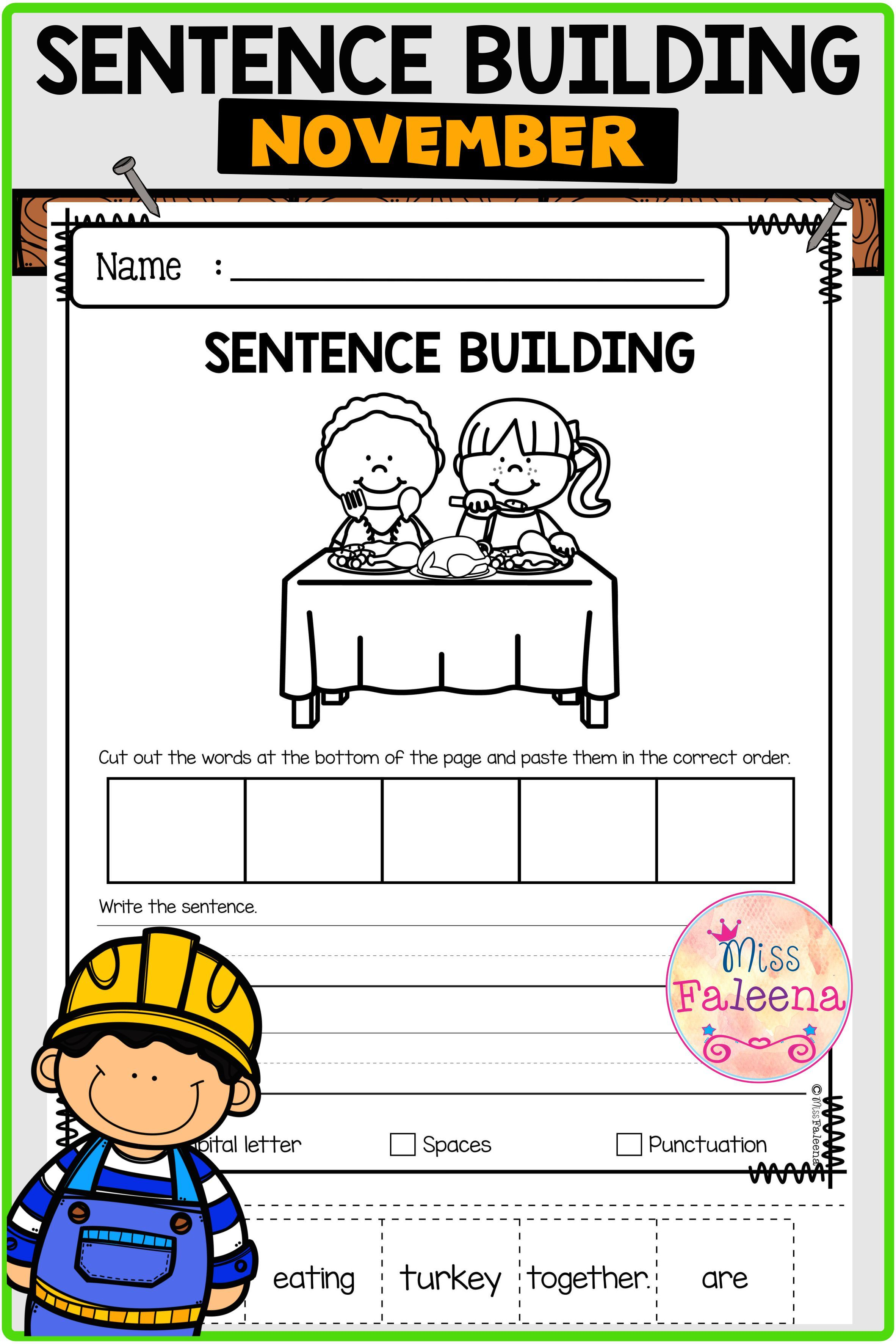 November Sentence Building Di 2020 [ 3544 x 2364 Pixel ]