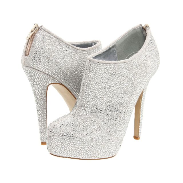 Sparkly white booties. Steve Madden.
