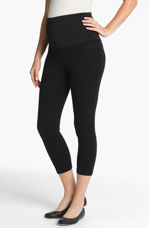 ead9aa9cbcae60 Women's Maternal America Post Support Crop Maternity Leggings, Size ...