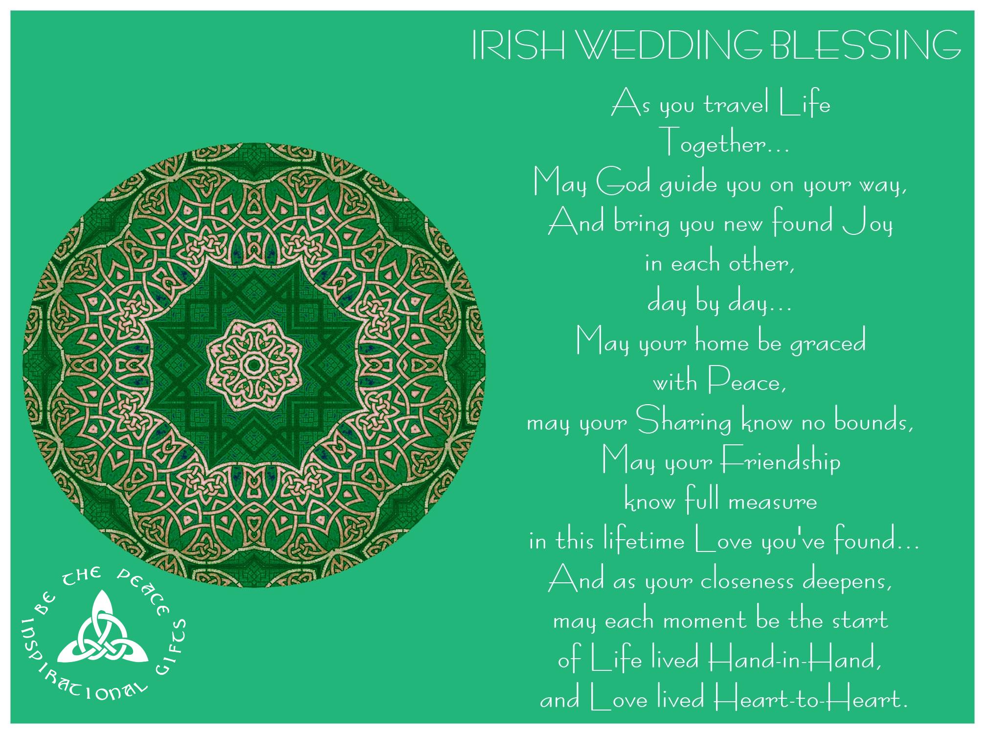 IRISH WEDDING BLESSING...\
