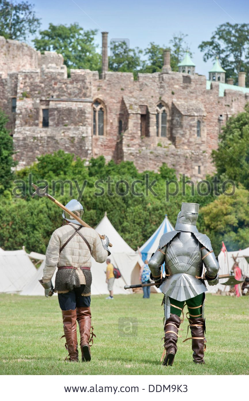The 'berkeley Skirmish' Medieval Reinactments At Berkeley Castle Near Stock Photo, Picture And Royalty Free Image. Pic. 60068263