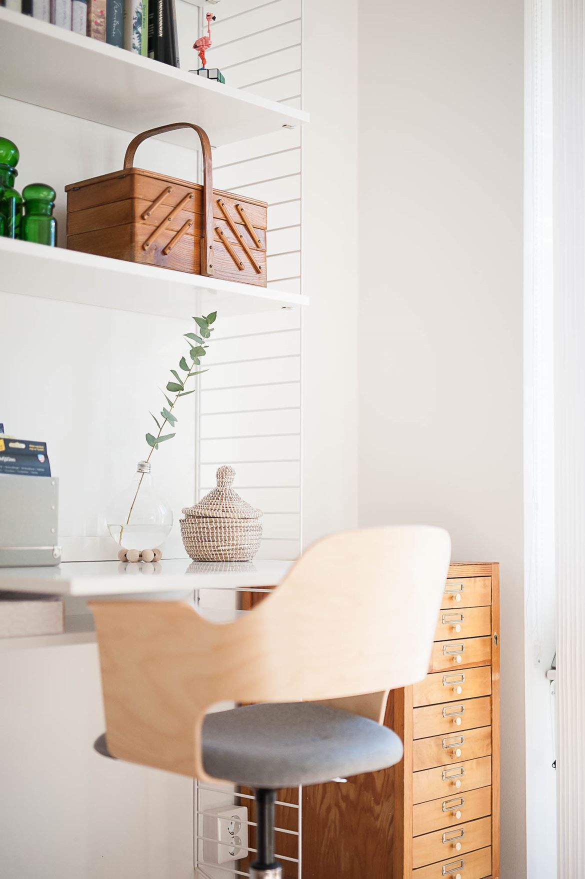 Workspace inspiration | String Shelving System available at www ...