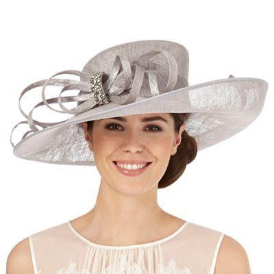 a37f2ff2b Hatbox Grey diamante bow hat-   Debenhams   hats   Wedding hats for ...
