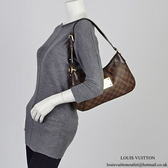 7921094b2d9a Louis Vuitton N48180 Thames PM Hobo Bag Damier Ebene Canvas