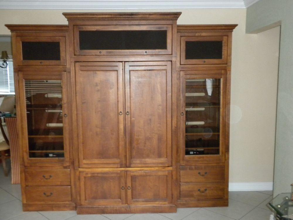 Ethan allen tv cabinet | Tall cabinet storage ...