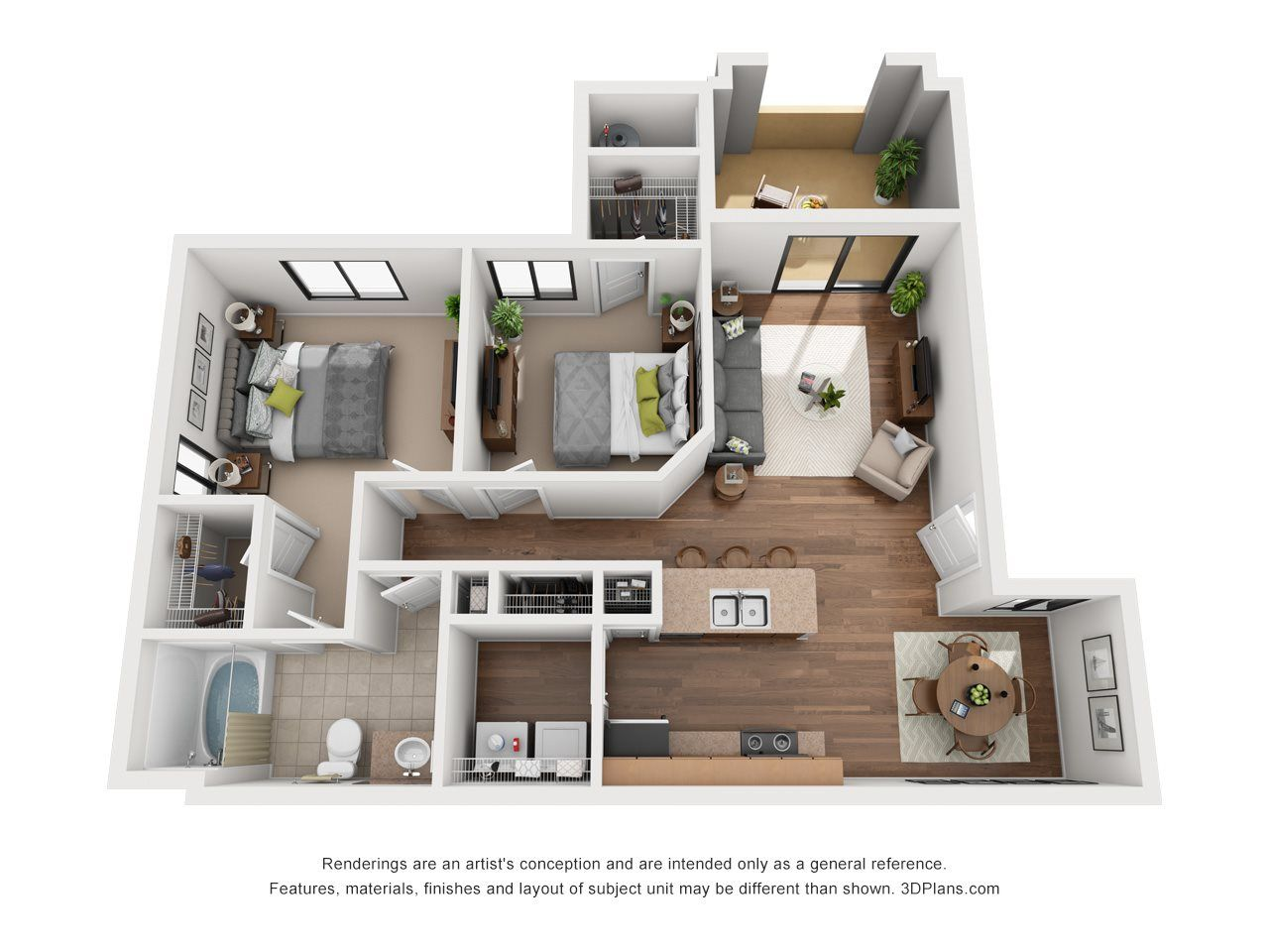 The Sorrento 2 Bedroom 1 Bathroom 964 Sq Ft Bedroom Floor Plans 3 Bedroom Floor Plan Home
