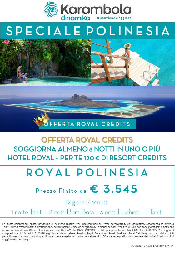 POLINESIA Karambola Dinamika: SPECIALE OFFERTA ROYAL CREDITS - un ...