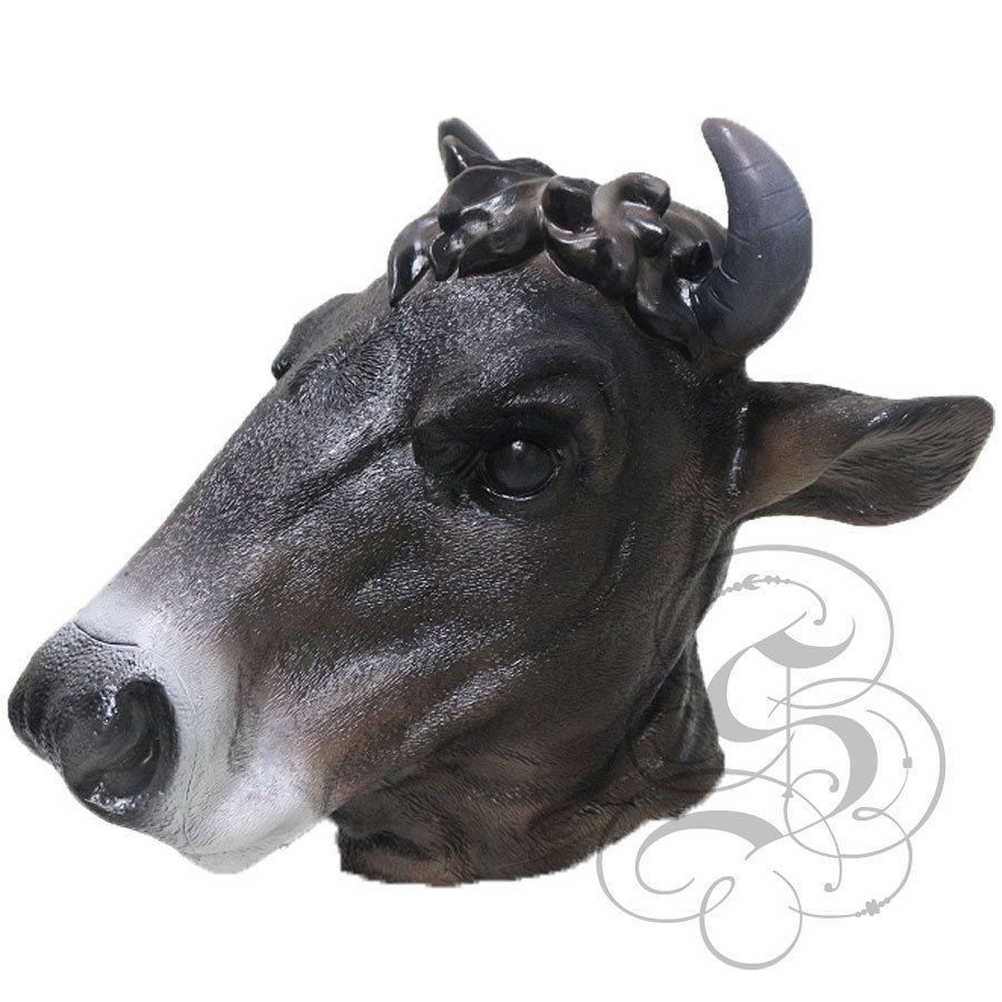 NEW! Latex Animal Realistic Black Cow Cosplay Fancy Dress
