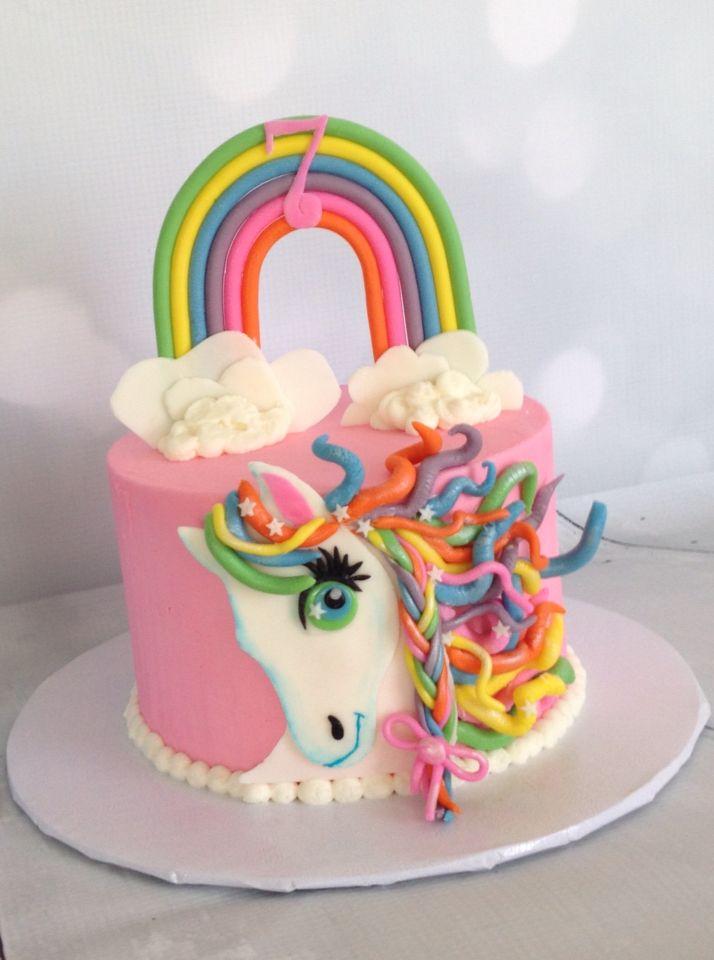 Lisa Frank inspired cake rainbow horse  Cakes  Birthday