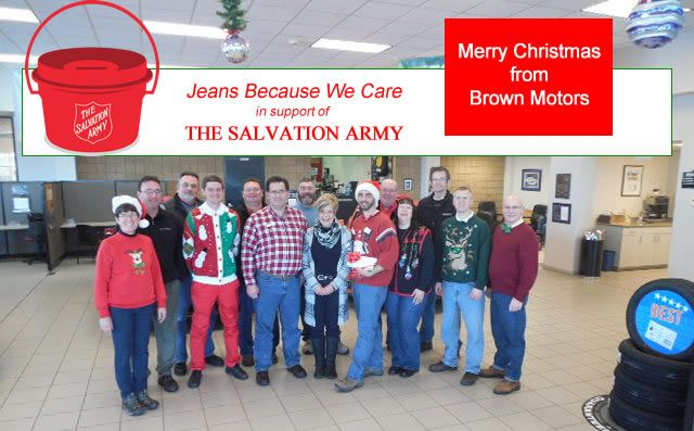 Brown Motors shows support for The Salvation Army