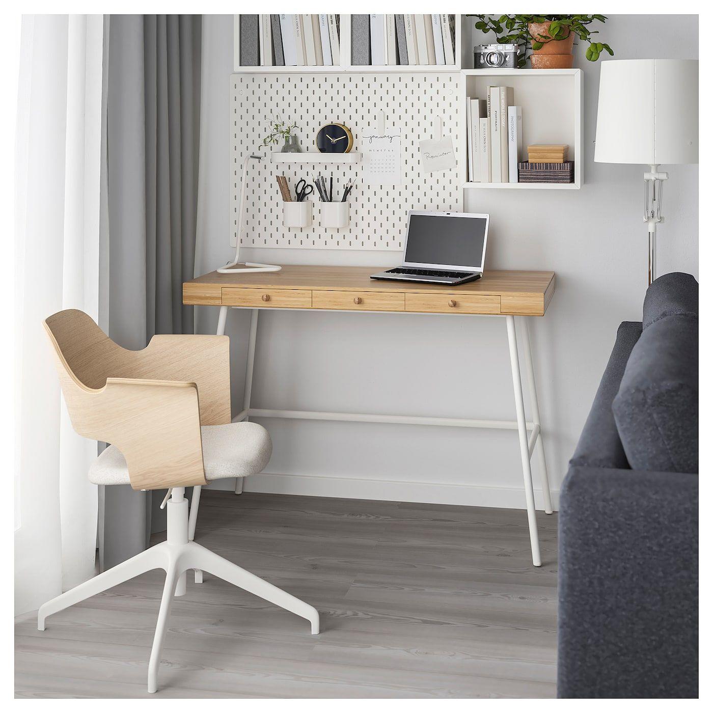 Lillasen Bureau Bamboe 102x49 Cm Ikea Ikea Desk Ikea Bedroom Desk