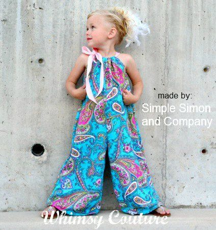 Whimsy Couture Sewing Pattern Tutorial Pdf -- Pillowcase Romper preemie -- through 10 girls w. ruffles Instant