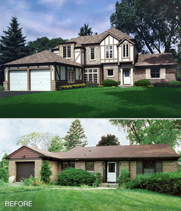 Airoom blog post ranch style home addition ideas for Second floor addition before and after