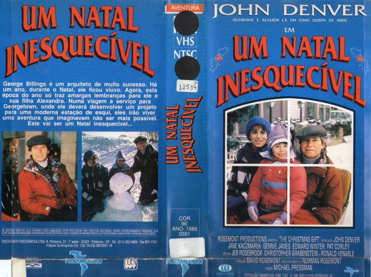 VHS cover from Brazil: The Christmas Gift | John denver ...