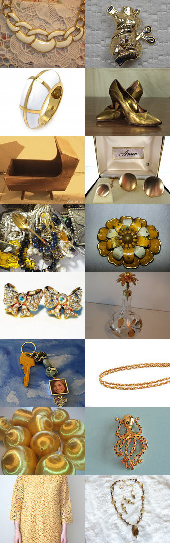 TeamVintageusa Has The Golden Touch by denise on Etsy--Pinned with TreasuryPin.com