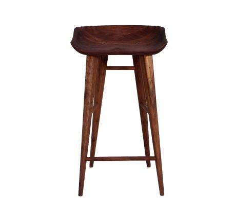 Excellent Manu Counter Stool Fsc Certified Solid American Walnut Inzonedesignstudio Interior Chair Design Inzonedesignstudiocom