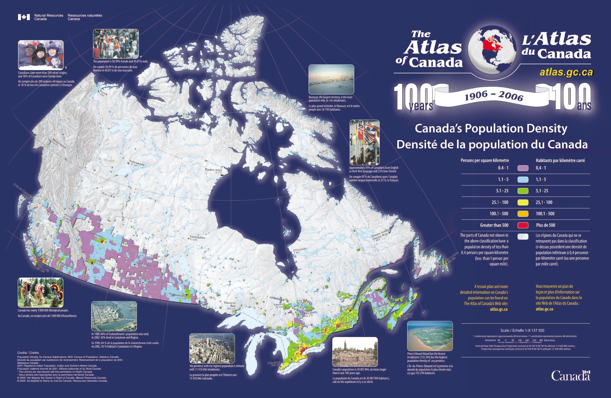 Canada Population Density Map Yup I Live About - Population density us cities map