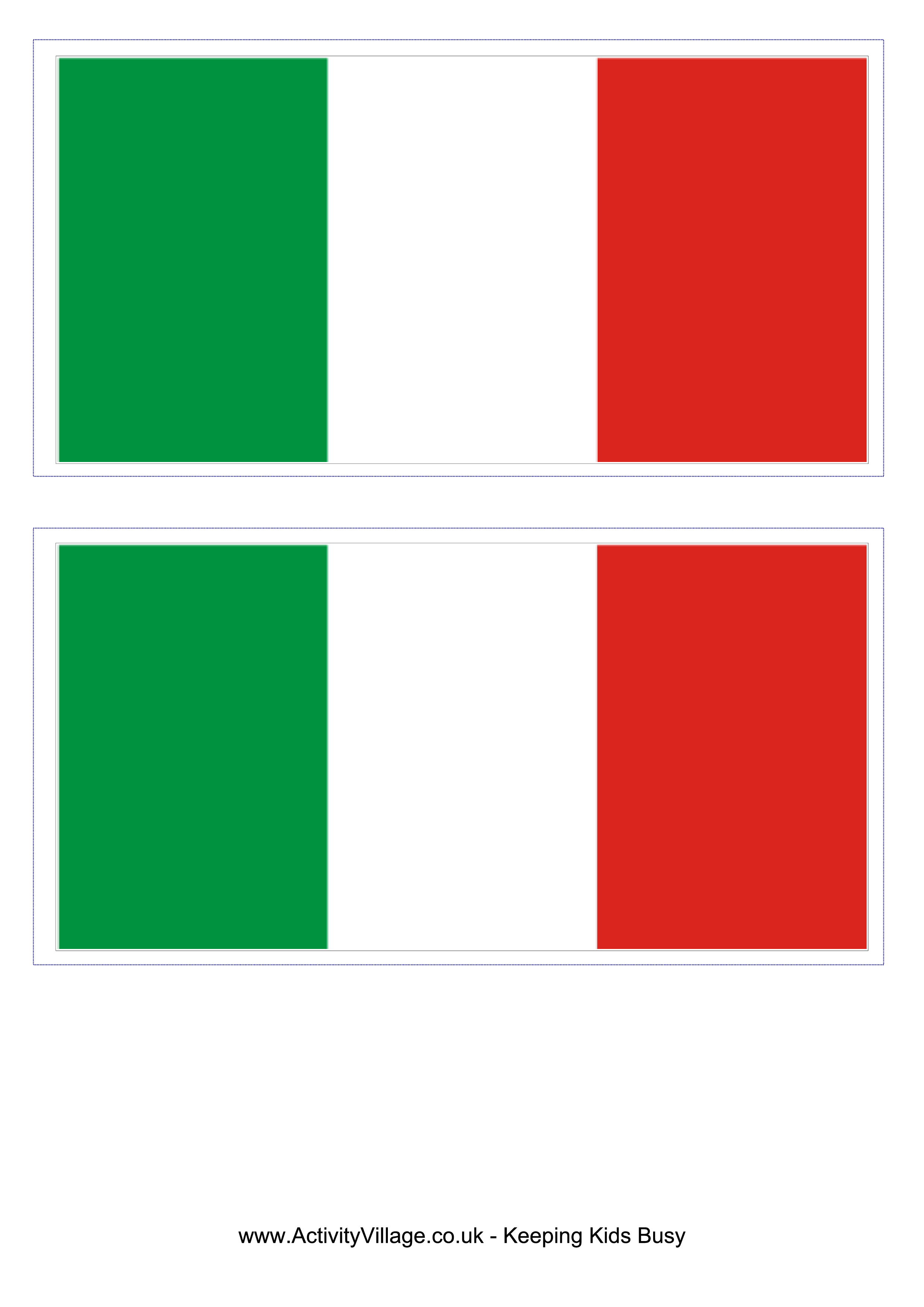 Italy Flag Free Printable Italy Flag Flag Template Flag Printable Irish Flag
