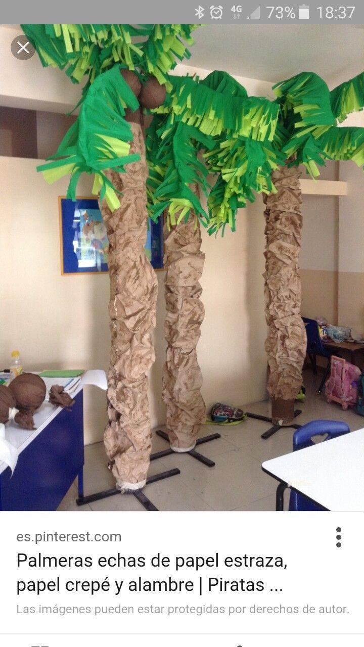 Palmera cosas que ador pinterest fiesta hawaiana - Como hacer una palmera artificial ...