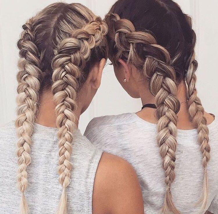 Double Dutch Braid Hair Styles Curly Hair Styles Long Hair Styles