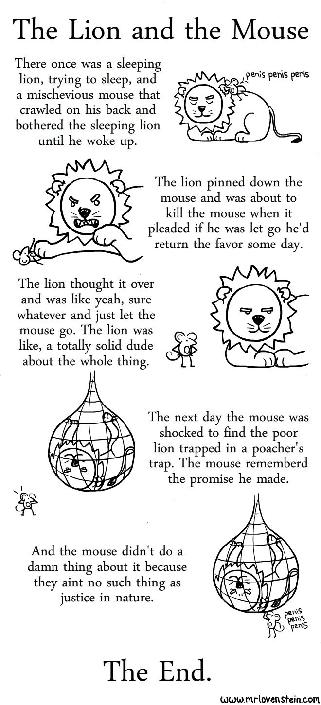 Worksheets  The Lion and the Mouse. | Lions, Humour and Funny