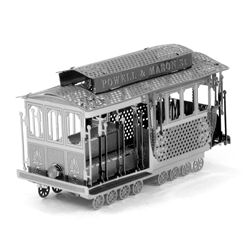 Metal Earth is a collection of intricately designed model building kits. Each kit consists of remarkably detailed laser etching cut onto one or more four-inch square sheets of thin metal. Simply snap out the eight to twelve pieces, bend the tabs to attach them together and create highly-detailed replicas of vehicles and architecture that fit in the palm of your hand.
