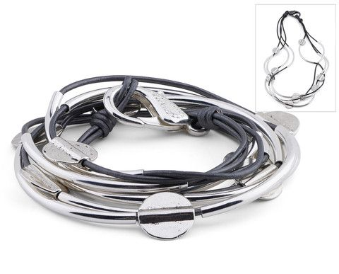 Shown in Metallic Gunmetal Leather  For 15% discount, shop here: http://r.sloyalty.com/r/urCTLXhcP9pt