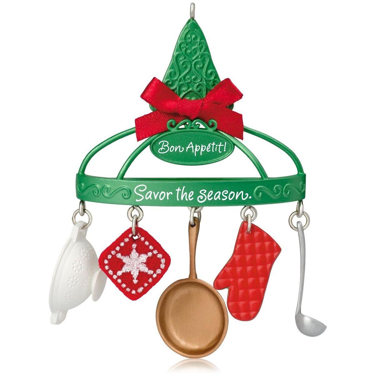 Hallmark Keepsake Savory Snowflake Kitchen Utensils Christmas Ornament New