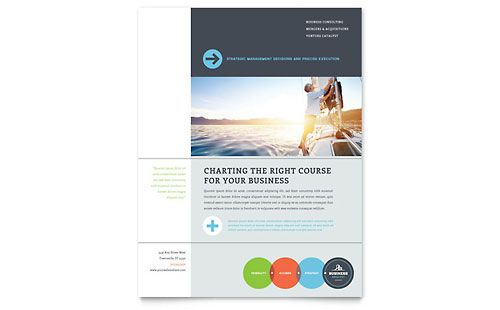 Financial Planning \ Consulting Flyer \ Ad Template by - ms word pamphlet template