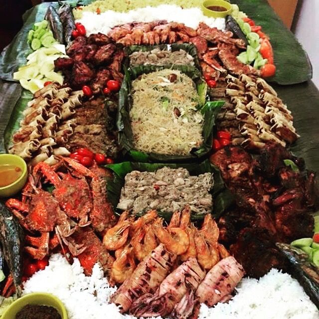 Boodle fight overload Asian recipes, Boodle fight