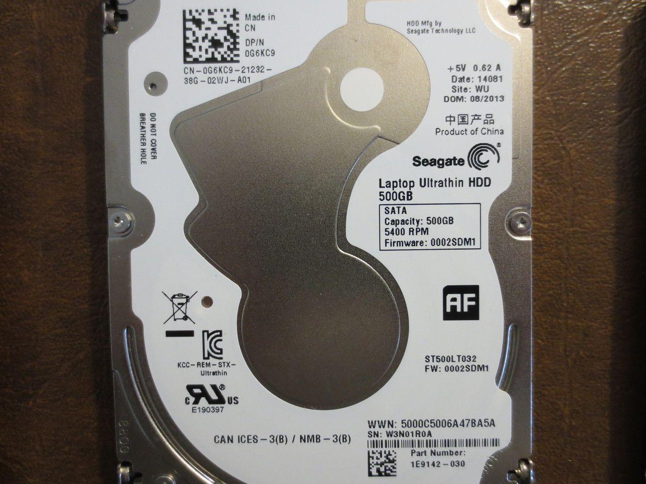 Seagate St500lt032 1e9142 030 Fw 0002sdm1 Wu 500gb Sata Seagate Computer Repair Hard Disk Drive