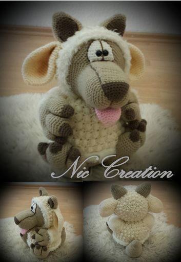xxl wolf im schafspelz pdf anleitung amigurumi von nic creation auf crochet. Black Bedroom Furniture Sets. Home Design Ideas