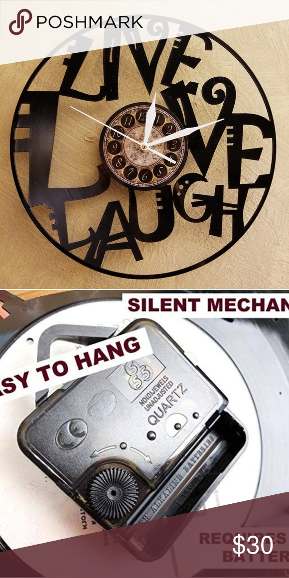 Live Love Laugh Vinyl Record Clock Boutique Vinyl Record Clock Record Clock