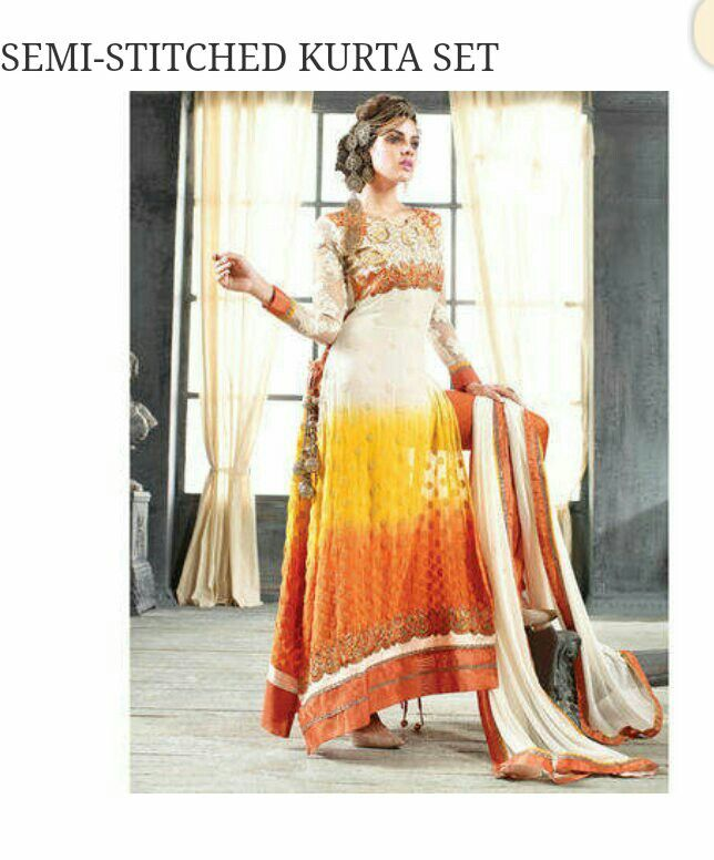 Beautiful straight long suit Rs-2500