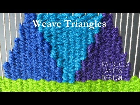 Small Frame Weaving with Triangles