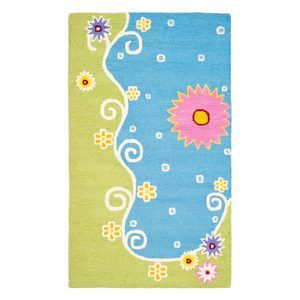 Beach area rug perfect for children's bedroom or playroom.