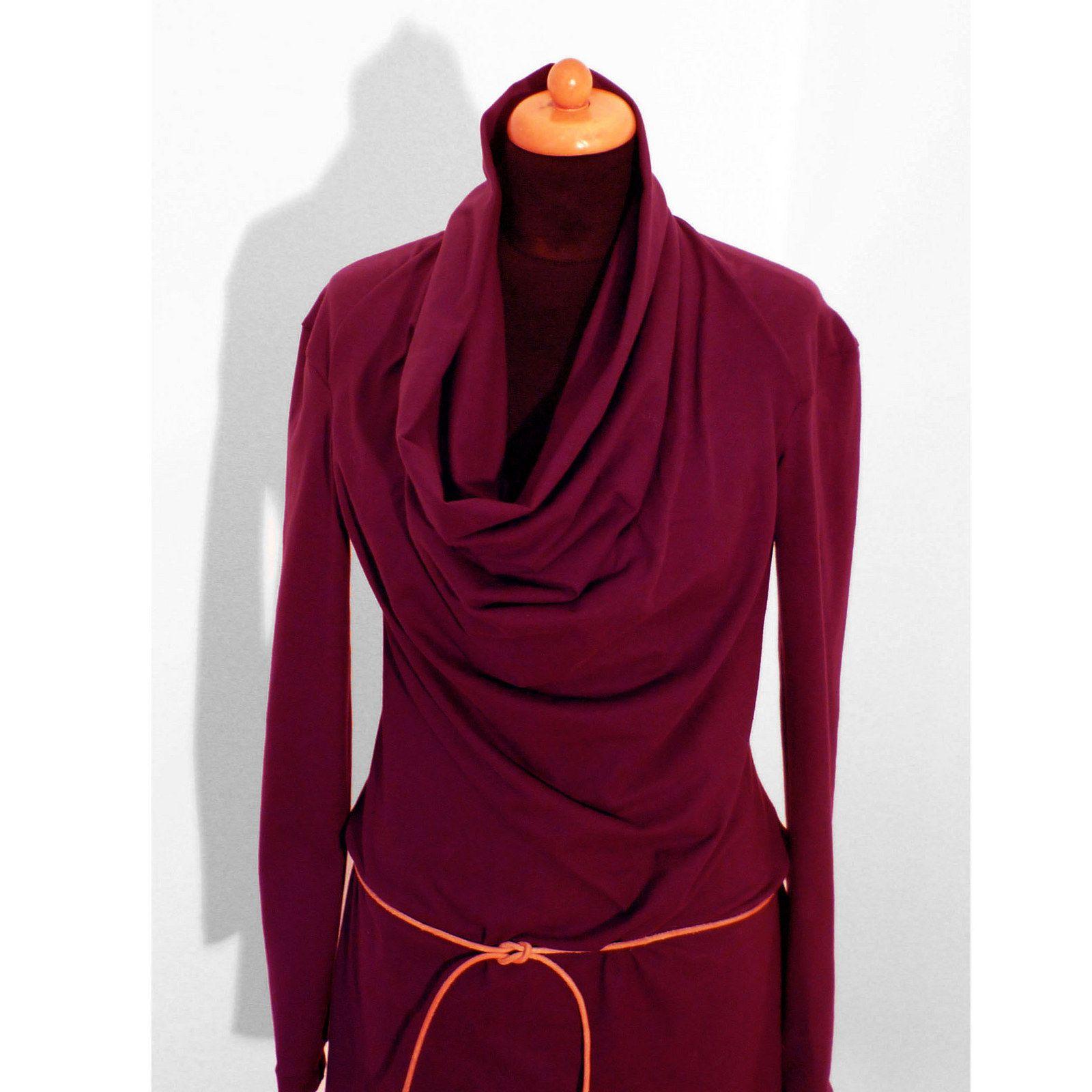 30fd83296c3 Rolákové šaty s opaskem LILA Ležérní dámské šaty s