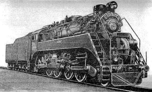 Russian V8000 Locomotive Train Engines Steam Locomotive