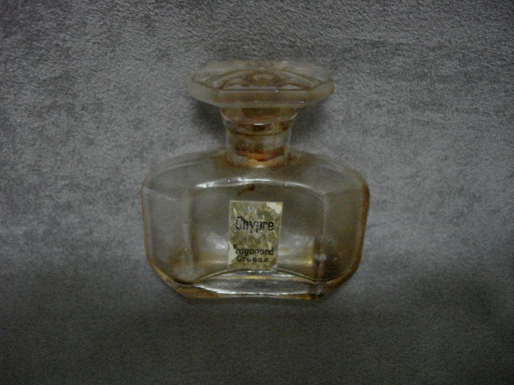Chypre Parfum Flacon French Fragonard Ancien Vintage Grasse Perfume SMUzVp