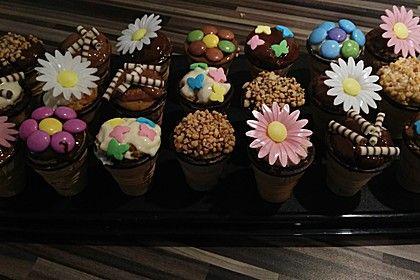 Kleine Kuchen Im Waffelbecher Kuchen Food And Essen