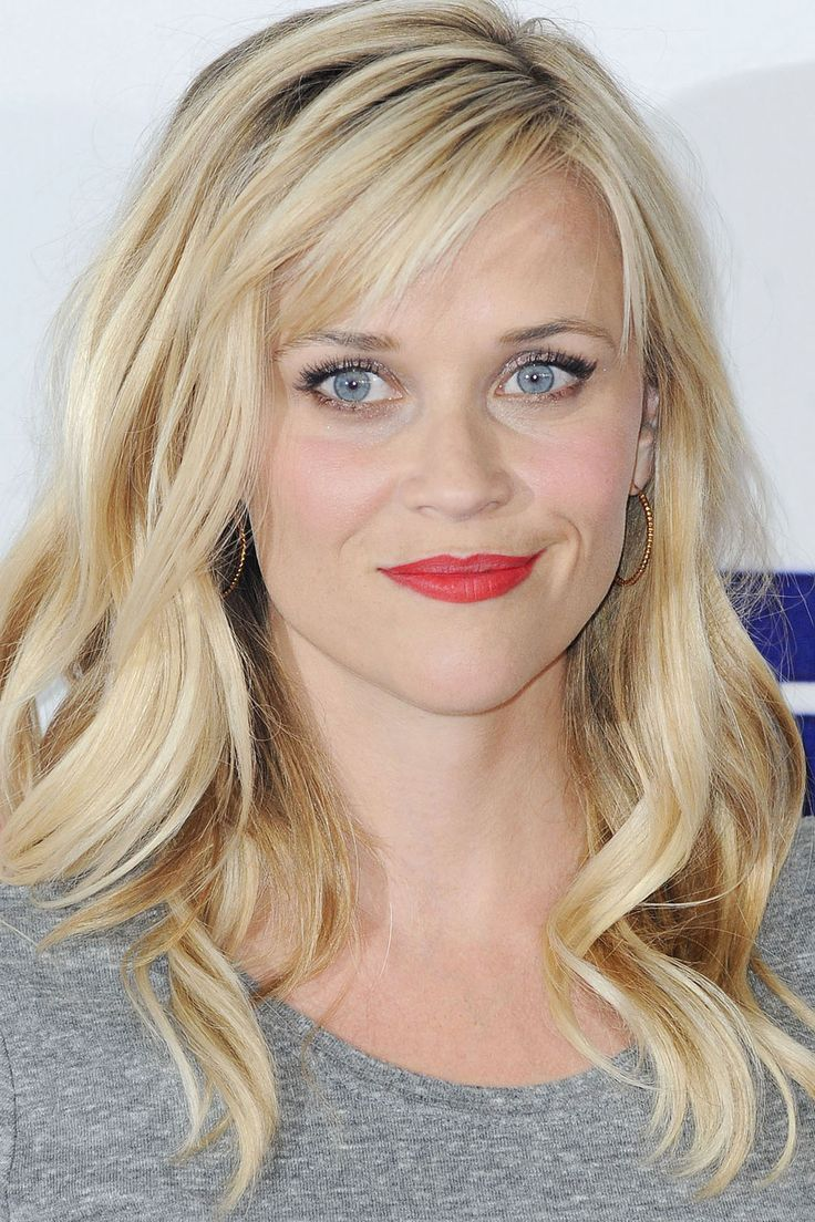 Hairstyles For Round Faces Reece Witherspoon Page Hair - Hairstyles for round face and long hair