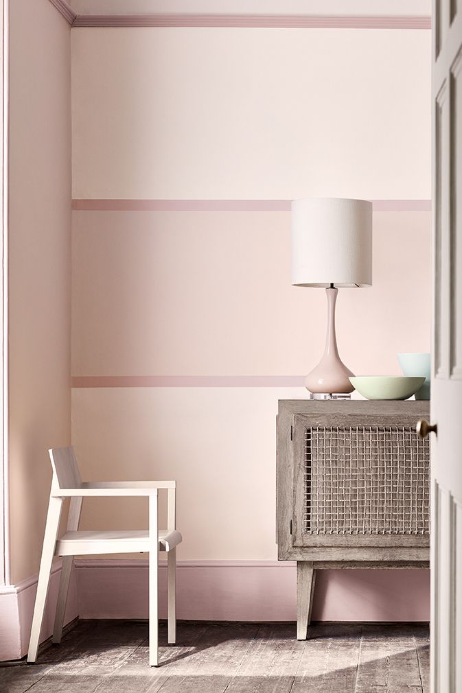 Wall: Dorchester Pink- Pale 285 Detail Outer Stripe: Dorchester Pink ...