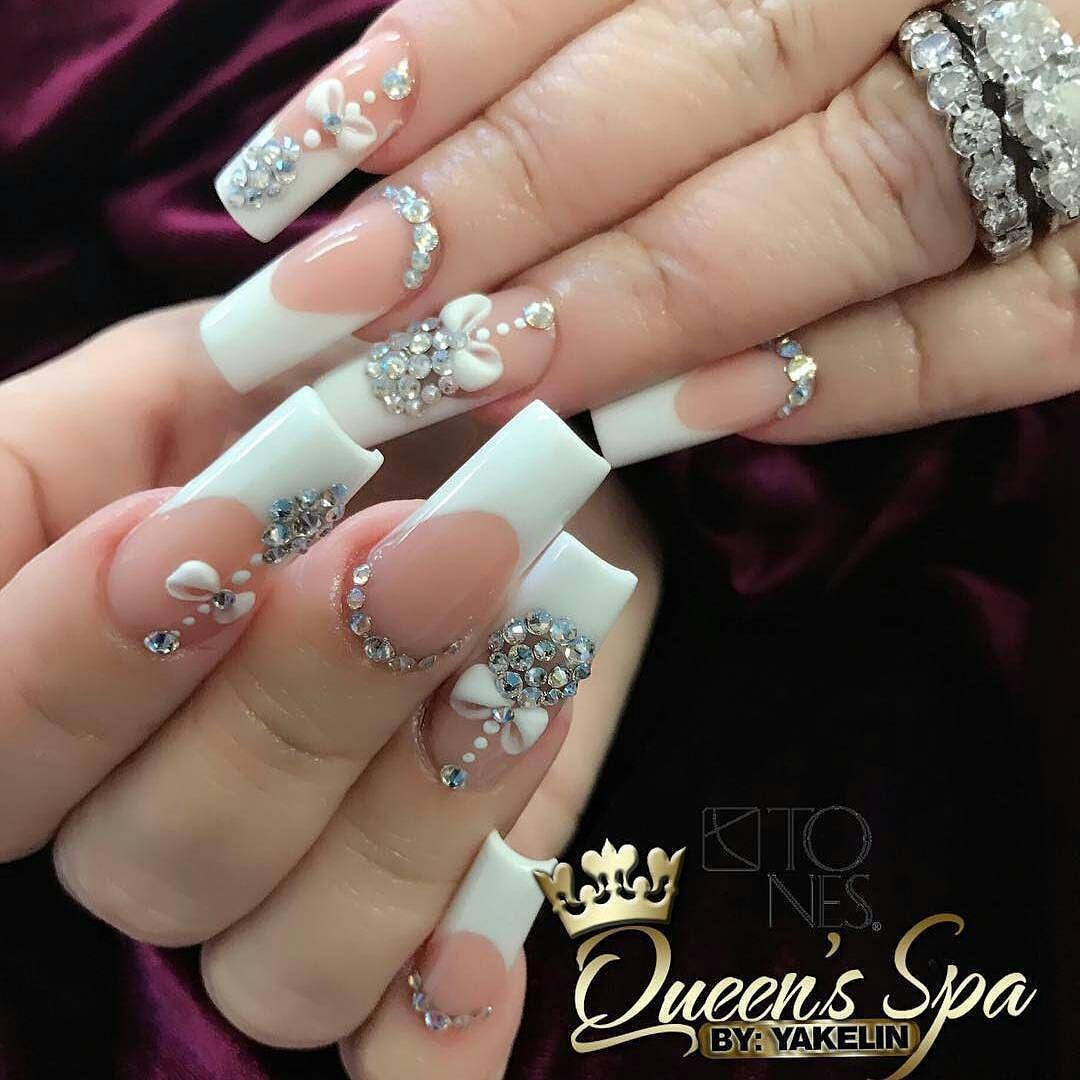 Amazing Nail Art Made Using Tones Products | fancy nails rhinestones ...
