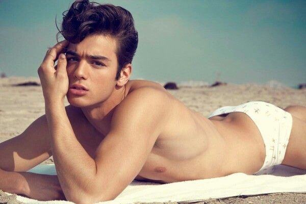 White Speedo Boy At The Beach