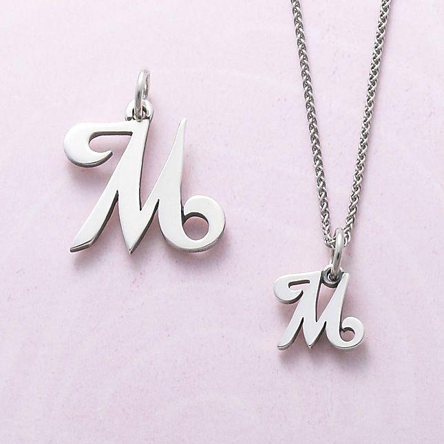 Script Initial Charm Initials Alphabet Necklace Initial