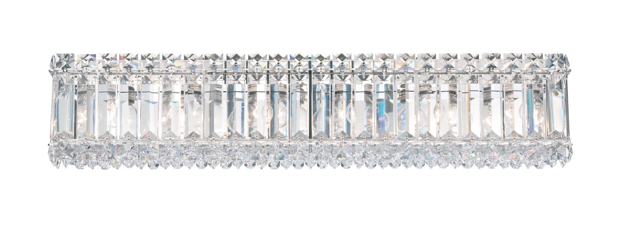 Photo of Schonbek 2224-401 Stainless Steel 24″ Wide Quantum 6 Light Vanity Light With Crystal Shade From The Quantum Collection