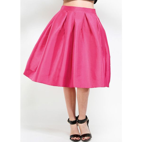 ModestlyChic Apparel Bubble Gum Pink Skirt ($45) ❤ liked on Polyvore