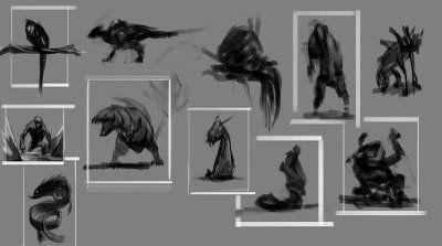 concept creature drafts