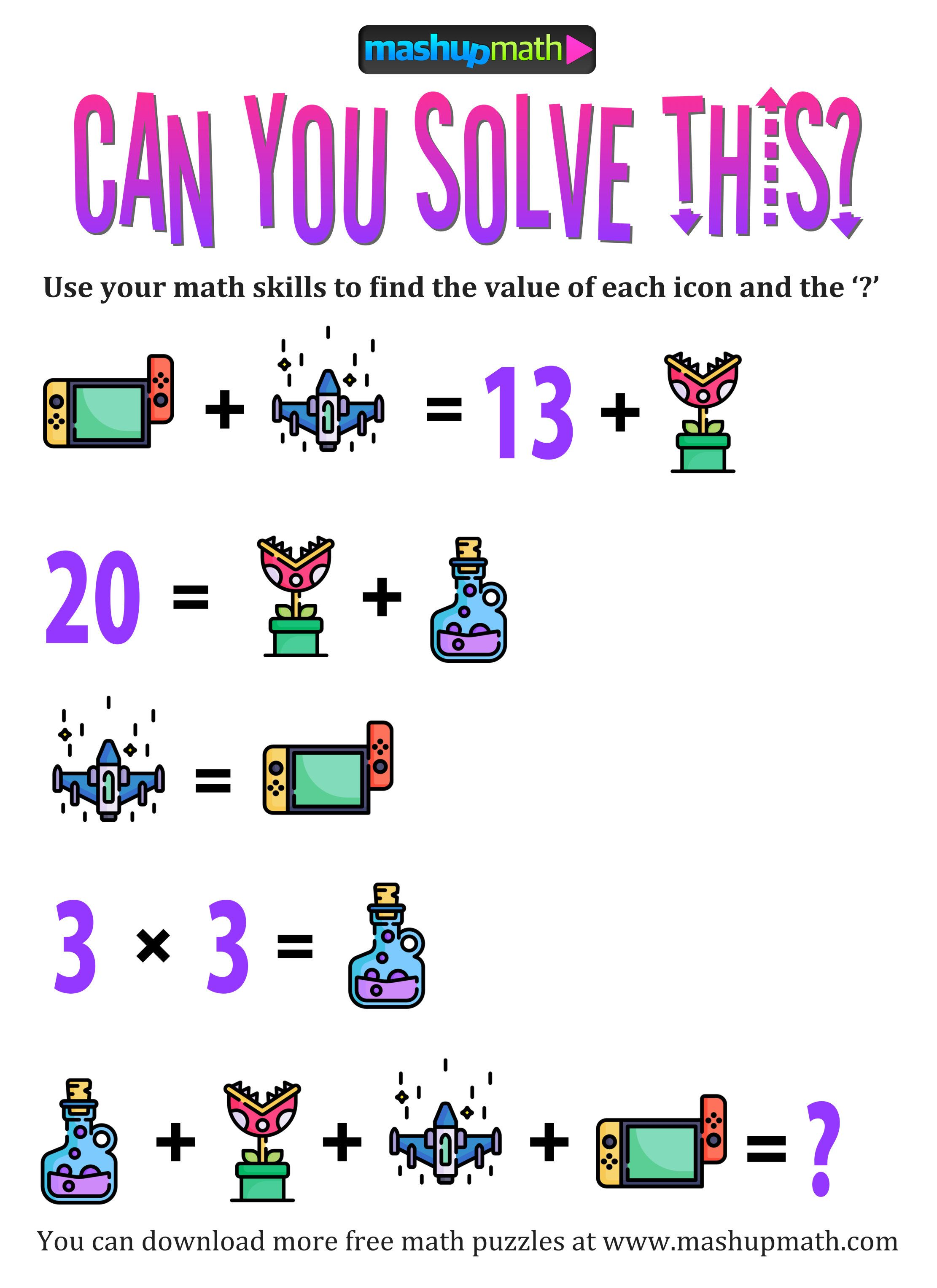 hight resolution of Pin by Lauren Mitchell on Mash Up Math   Maths puzzles
